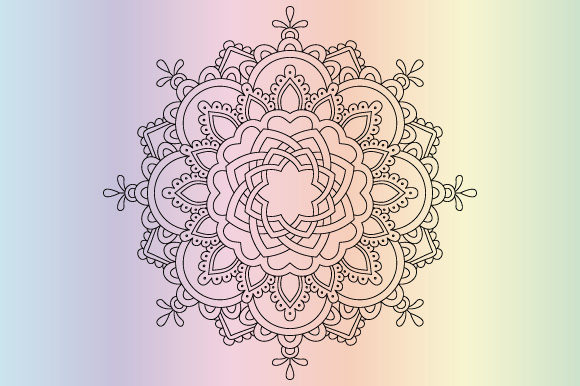 Print on Demand: Mandala Coloring Page Vector Graphic Coloring Pages & Books Adults By GraphicsFarm - Image 1