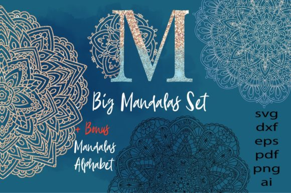 Print on Demand: Mandalas Big Set Graphic Crafts By nicjulia