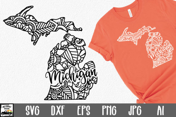 Print on Demand: Michigan State Mandala Graphic Crafts By oldmarketdesigns