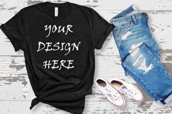 Mockup Black T-shirt Bella Canvas Graphic Product Mockups By ArtStudio