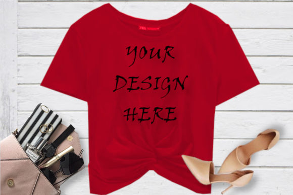 Mockup Red T-shirt, Digital Red T-shirt Graphic Product Mockups By ArtStudio