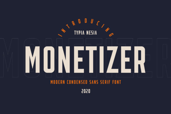 Print on Demand: Monetizer Display Font By Typia Nesia