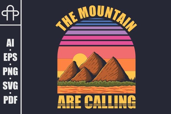 Print on Demand: Mountain Retro Vector Illustration Graphic Illustrations By Andypp