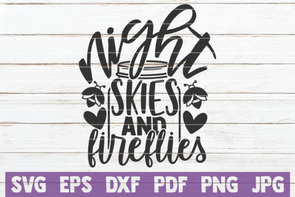 Night Skies and Fireflies Graphic Crafts By MintyMarshmallows