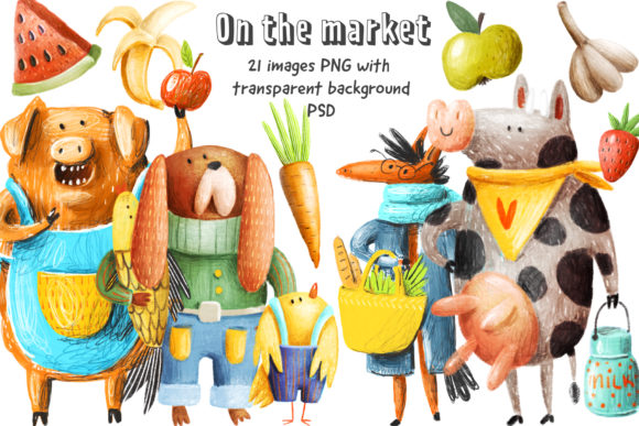Print on Demand: On the Market Gráfico Ilustraciones Por Architekt_AT