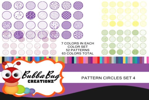 Pattern Circles Mega Set 4 Graphic Crafts By BUBBABUG
