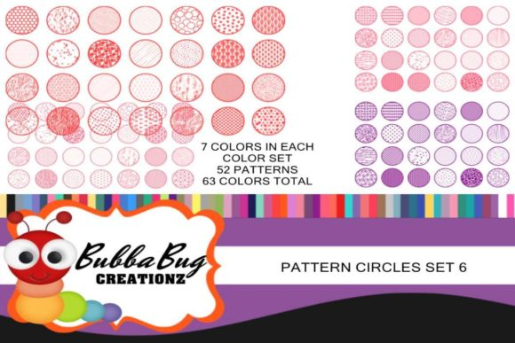 Pattern Circles Mega Set 6 Graphic Crafts By BUBBABUG