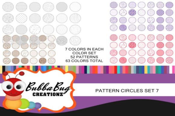 Pattern Circles Mega Set 7 Graphic Crafts By BUBBABUG
