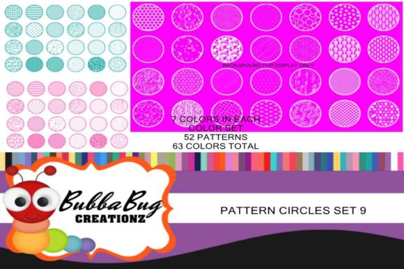 Pattern Circles Mega Set 9 Graphic Crafts By BUBBABUG
