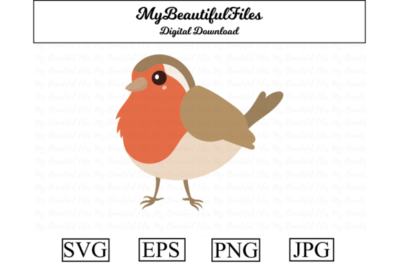 Print on Demand: Robin Clipart Design Graphic Illustrations By MyBeautifulFiles