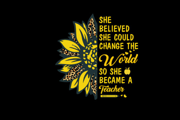 Print on Demand: She Believed She Could Change the World Graphic Print Templates By FLC