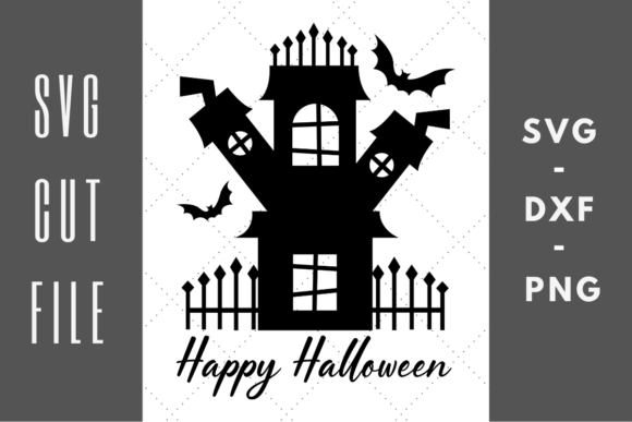 Print on Demand: Spooky House Happy Halloween Graphic Crafts By Abigail Burt Designs