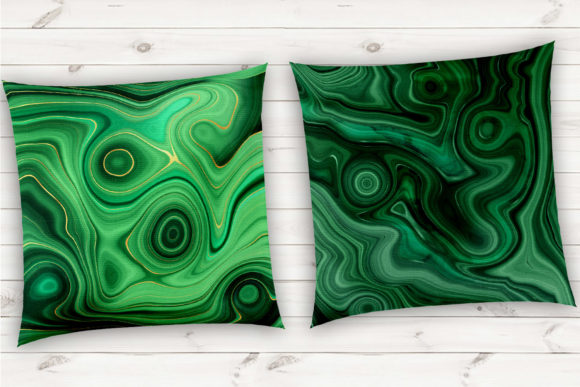 Print on Demand: Strata Malachite Textures Graphic Textures By Digital Curio - Image 10