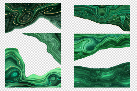 Print on Demand: Strata Malachite Textures Graphic Textures By Digital Curio - Image 2