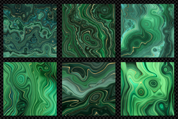 Print on Demand: Strata Malachite Textures Graphic Textures By Digital Curio - Image 4