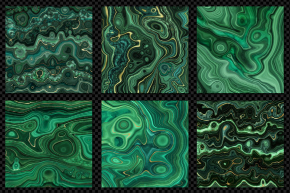 Print on Demand: Strata Malachite Textures Graphic Textures By Digital Curio - Image 5