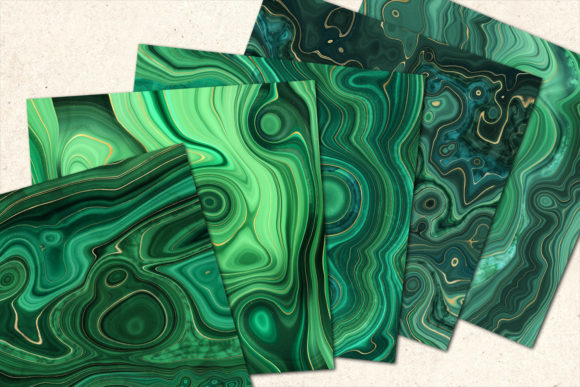 Print on Demand: Strata Malachite Textures Graphic Textures By Digital Curio - Image 7
