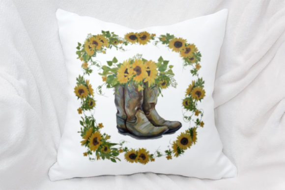 Print on Demand: Sunflowers & Boots Graphic Illustrations By RamblingBoho - Image 3