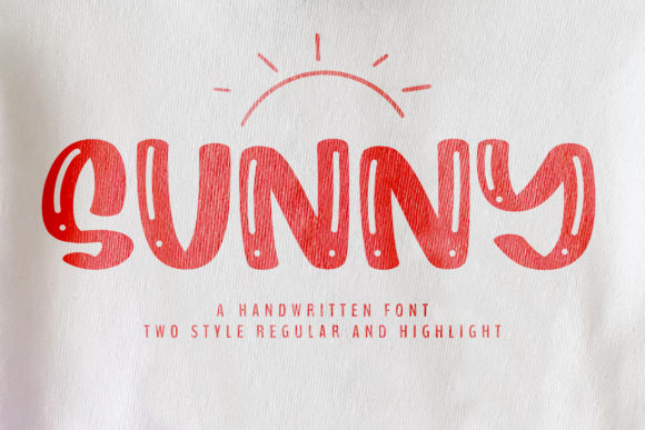 Print on Demand: Sunny Display Fuente Por BitongType