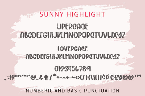 Sunny Font Popular Design