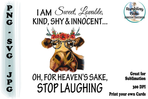 Sweet Innocent Stop Laughing Grafik Illustrationen von RamblingBoho