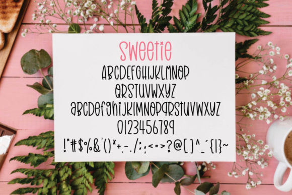 Print on Demand: Sweetie Script & Handwritten Font By Ality - Image 5