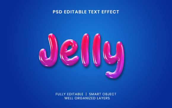 Text Effect - Jelly Text Style Graphic Layer Styles By mrifay1991