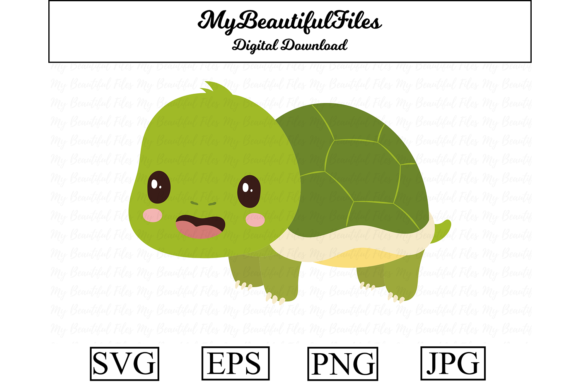 Print on Demand: Turtle Clipart Design Graphic Illustrations By MyBeautifulFiles