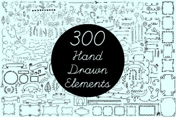 Vector Hand Drawn Elements Vol.2 Graphic Graphic Templates By AUK_SOLUTION