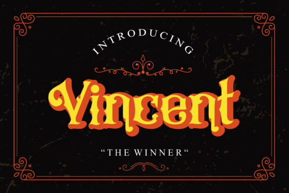 Print on Demand: Vincent Blackletter Font By TheWinner