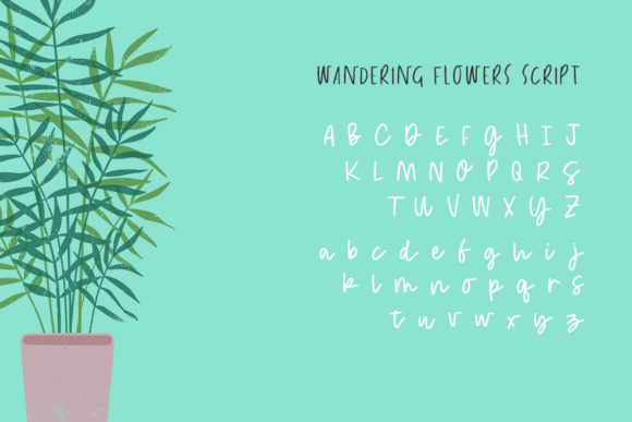 Wandering Flowers Font Preview