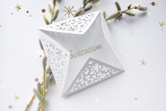 Print on Demand: Wedding Envelope Laser Cut Template Graphic Crafts By YAZZIK