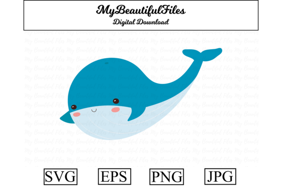Print on Demand: Whale Clipart Design Graphic Illustrations By MyBeautifulFiles