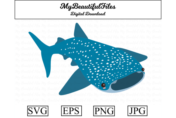 Print on Demand: Whale Shark Clipart Design Graphic Illustrations By MyBeautifulFiles