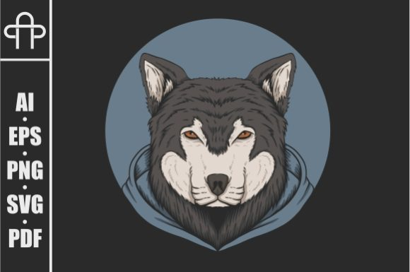 Print on Demand: Wolf Hoodie Vector Illustration Graphic Illustrations By Andypp