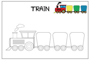 Print on Demand: Coloring Pages for Kids Graphic Coloring Pages & Books Kids By curutdesign 7