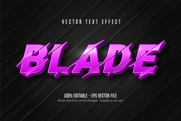 Print on Demand: Cutout Style Editable Text Effect - Blade Graphic Graphic Templates By Mustafa Bekşen