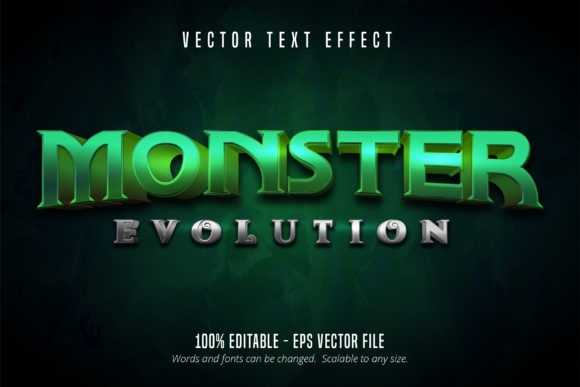 Print on Demand: Game Style Editable Text Effect - Monster Graphic Graphic Templates By Mustafa Bekşen