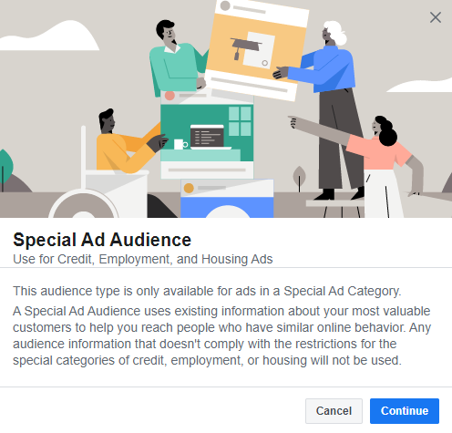 how to create a special ad audience