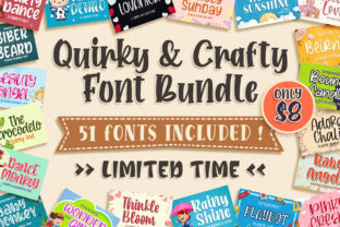 Print on Demand: Quirky & Crafty Font Bundle Bundle By Blankids Studio