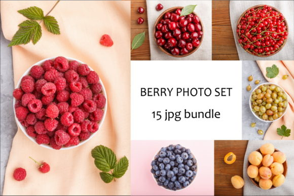 A Bundle of 15 Berry Photos Graphic Food & Drinks By Uladzimir Zgurski Photos