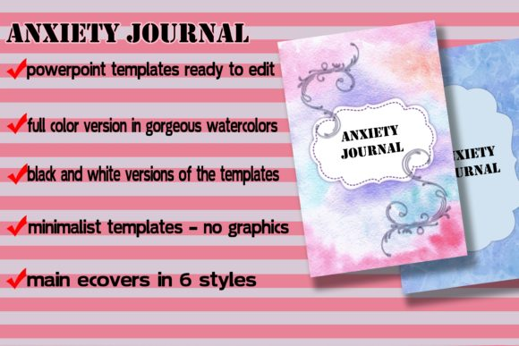 Print on Demand: Anxiety Journal Templates for KDP Graphic KDP Interiors By Me610520