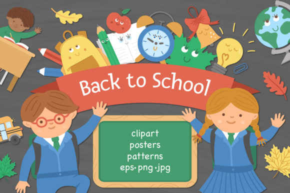 Back to School Collection Graphic Illustrations By lexiclaus