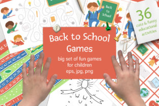 Back to School Games Graphic K By lexiclaus