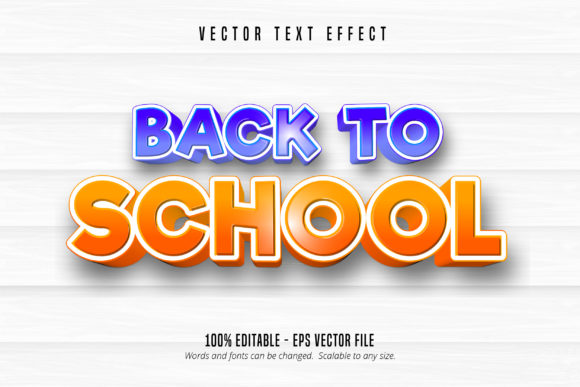 Print on Demand: Back to School Text Effect Graphic Graphic Templates By Mustafa Bekşen