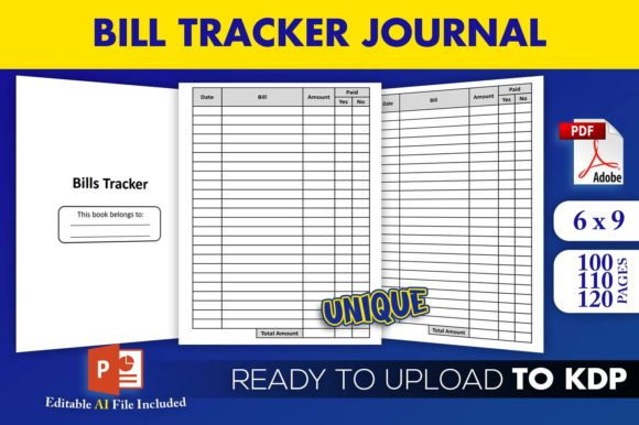 Print on Demand: Bill Tracker Bills Journal KDP Interior Graphic KDP Interiors By Beast Designer