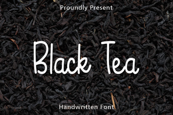 Print on Demand: Black Tea Script & Handwritten Font By rangkaiaksara