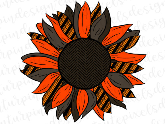 Bold Sunflower Graphic Illustrations By SusanTurpinDesign
