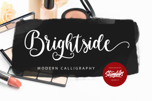 Print on Demand: Brightside Manuscrita Fuente Por StringLabs