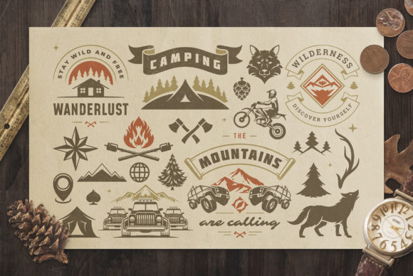 Camping & Outdoor Design Elements Graphic Objects By vasyako1984